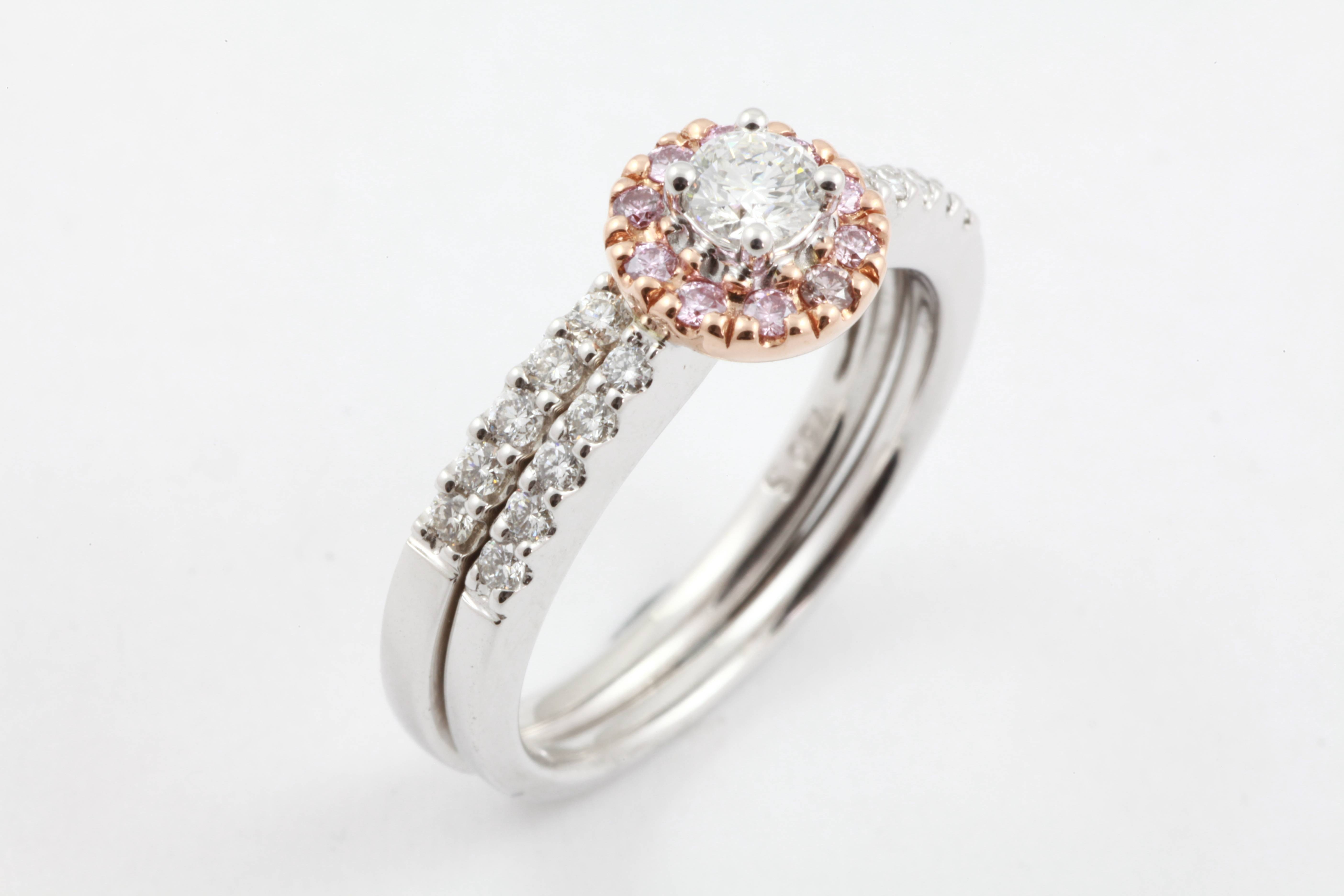 Wedding Bands | Gold River Jewellers Within Recent Pink And Diamond Wedding Bands (View 12 of 15)