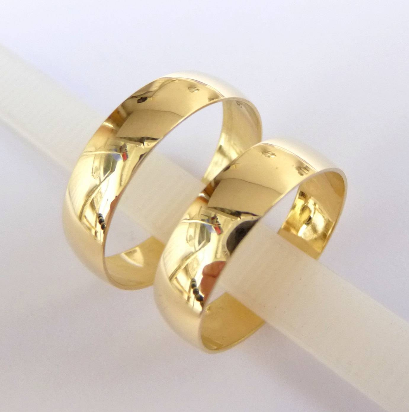 Wedding Bands Set Women's Men's Wedding Rings Gold 5Mm Inside Gold Wedding Rings For Women (View 11 of 15)