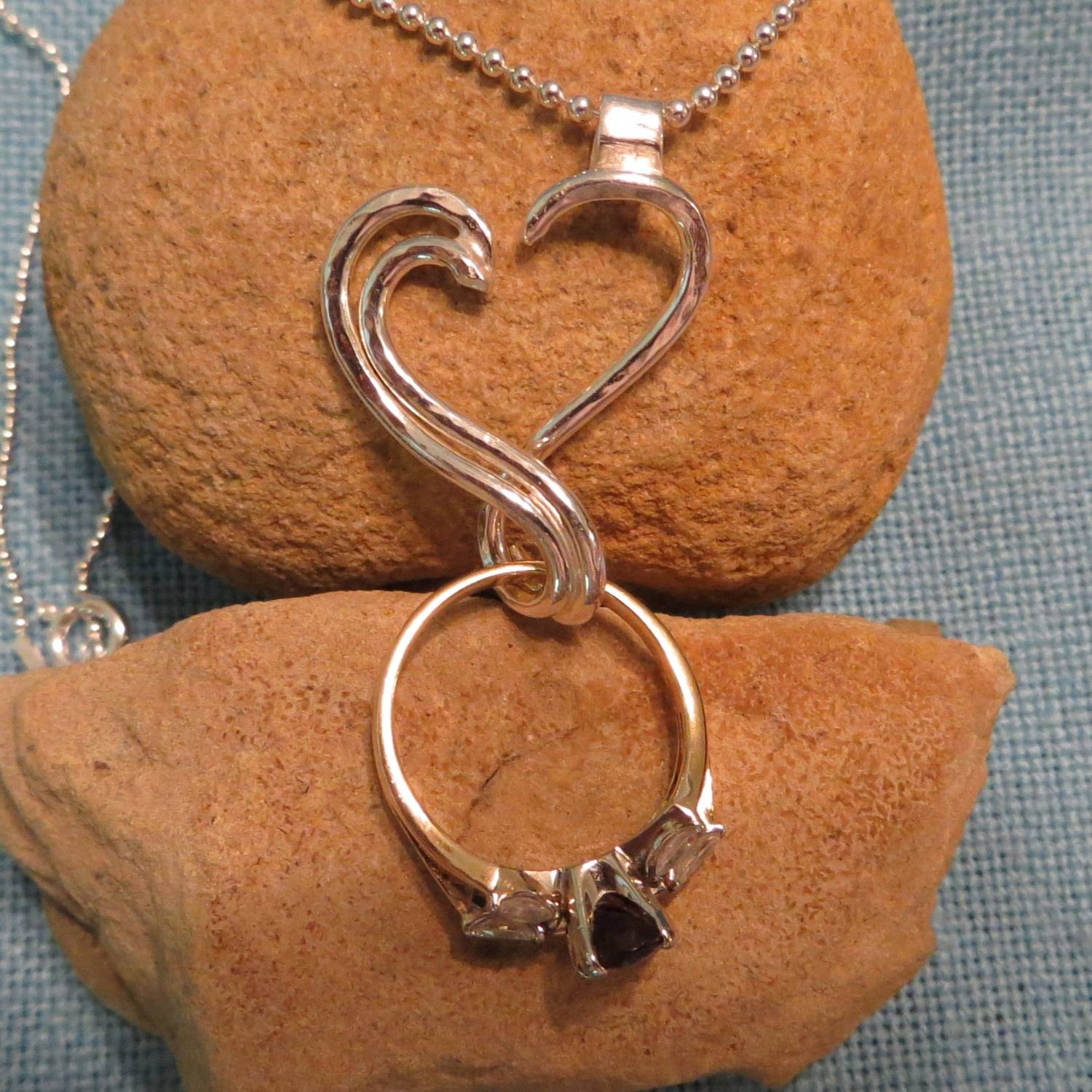 Wedding Ring Necklace Holder – Jewelry Ideas With Regard To Wedding Bands On Necklace (View 7 of 15)
