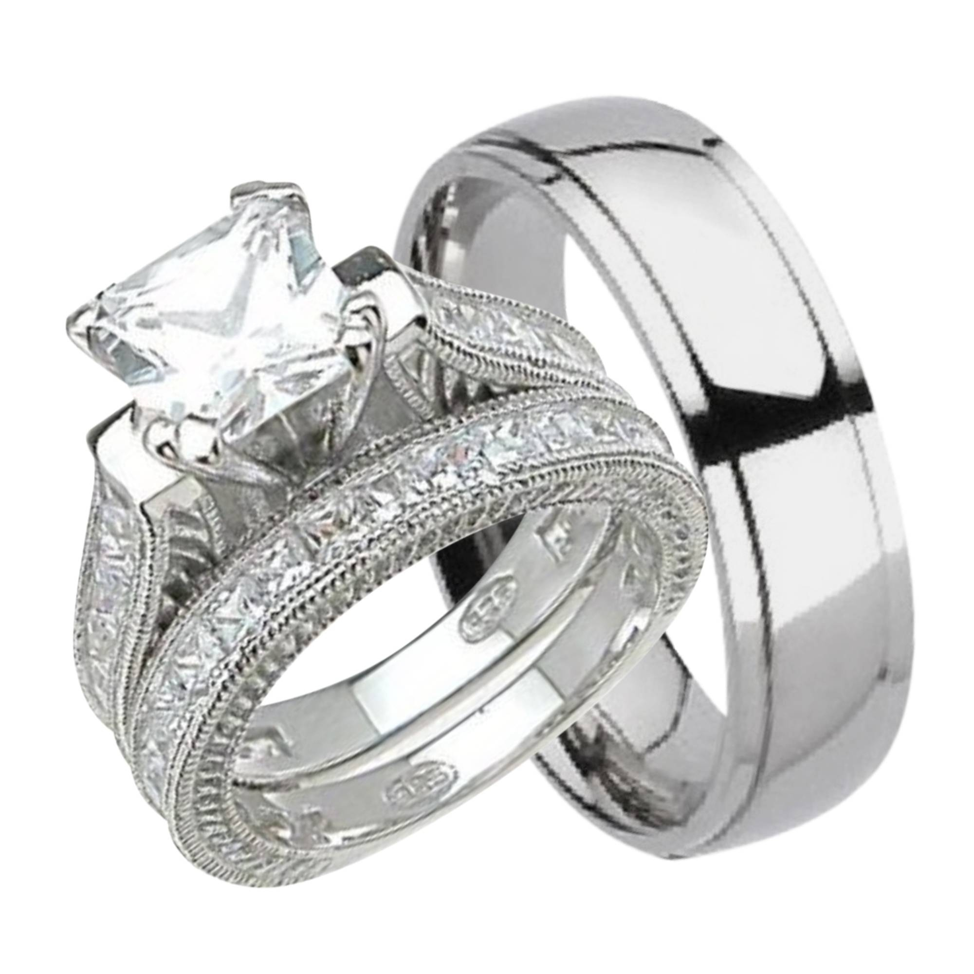 Wedding Ring Sets For Him & Her Regarding His And Her Wedding Bands Sets (View 12 of 15)
