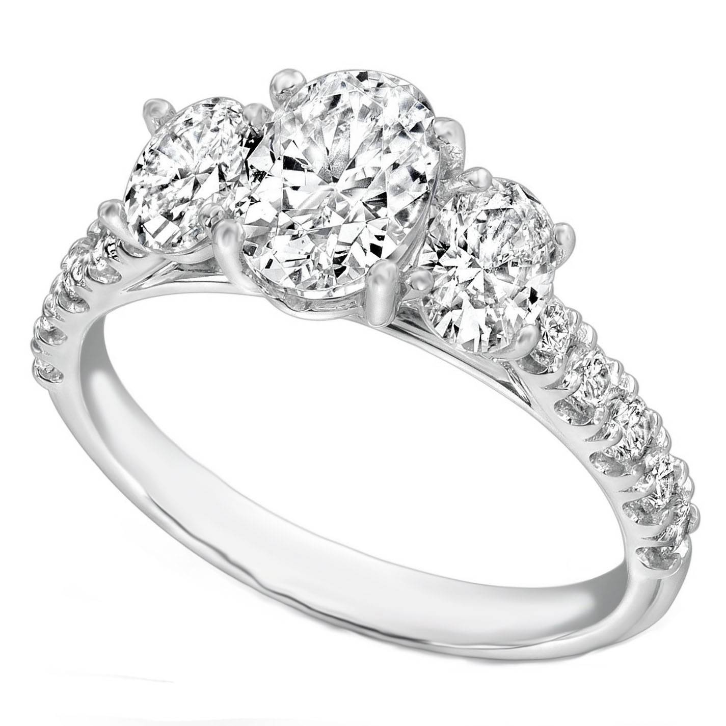 Wedding Rings : 3 Stone Engagement Rings With Side Stones 3 Stone In Three Stone Engagement Rings With Side Stones (View 5 of 15)