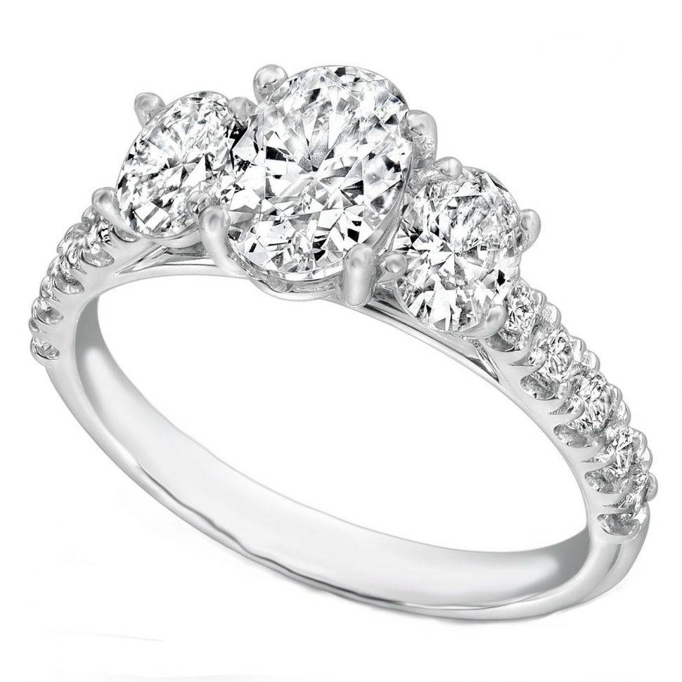 Wedding Rings : 3 Stone Platinum Ring Settings Three Stone Diamond Intended For 3 Stone Platinum Engagement Rings (View 15 of 15)