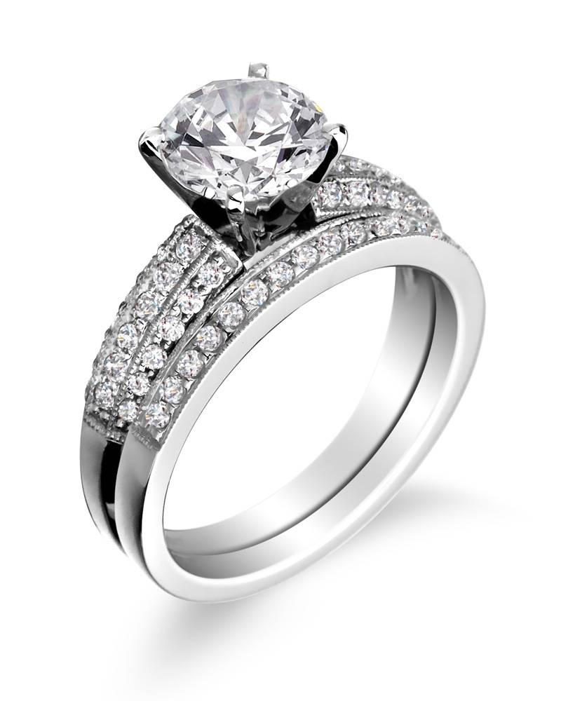 15 Ideas of Interlocking Engagement Ring Wedding Bands