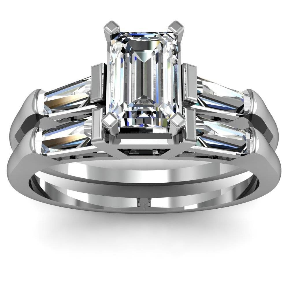 Wedding Rings : Baguette Wedding Ring Baguette Round Diamond In Baguette Cut Diamond Wedding Bands (View 14 of 15)