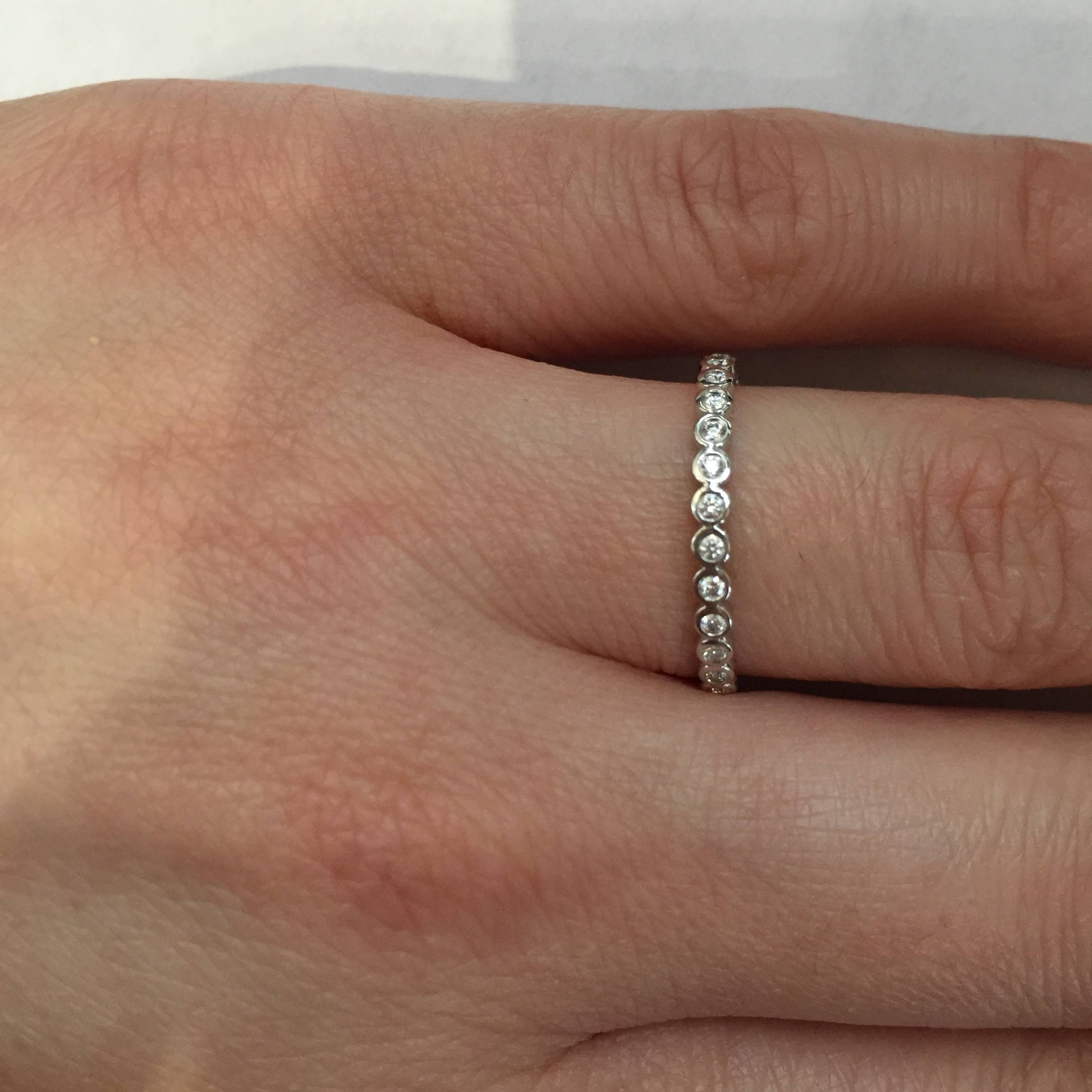 Wedding Rings : Basket Setting Ring Low Profile Wedding Band Flush Regarding 2017 Flush Set Diamond Wedding Bands (View 13 of 15)