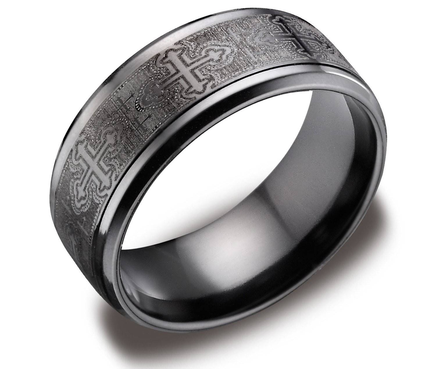 Wedding Rings : Black Wedding Ring Men Black Metal Engagement With Titanium Mens Wedding Rings (View 13 of 15)