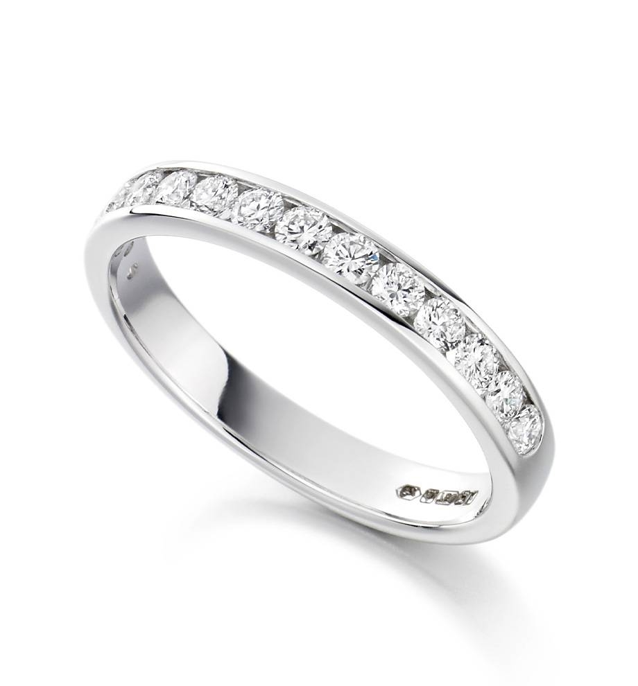 Wedding Rings : Channel Set Diamond Ring Platinum Channel Set With Regard To Most Current Platinum Channel Set Wedding Band (View 10 of 15)