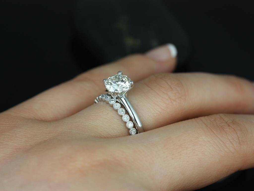 Wedding Rings : Contoured Wedding Bands Solitaire Enhancer Ring Intended For 2018 Solitaire Engagement Rings With Wedding Bands (View 2 of 15)