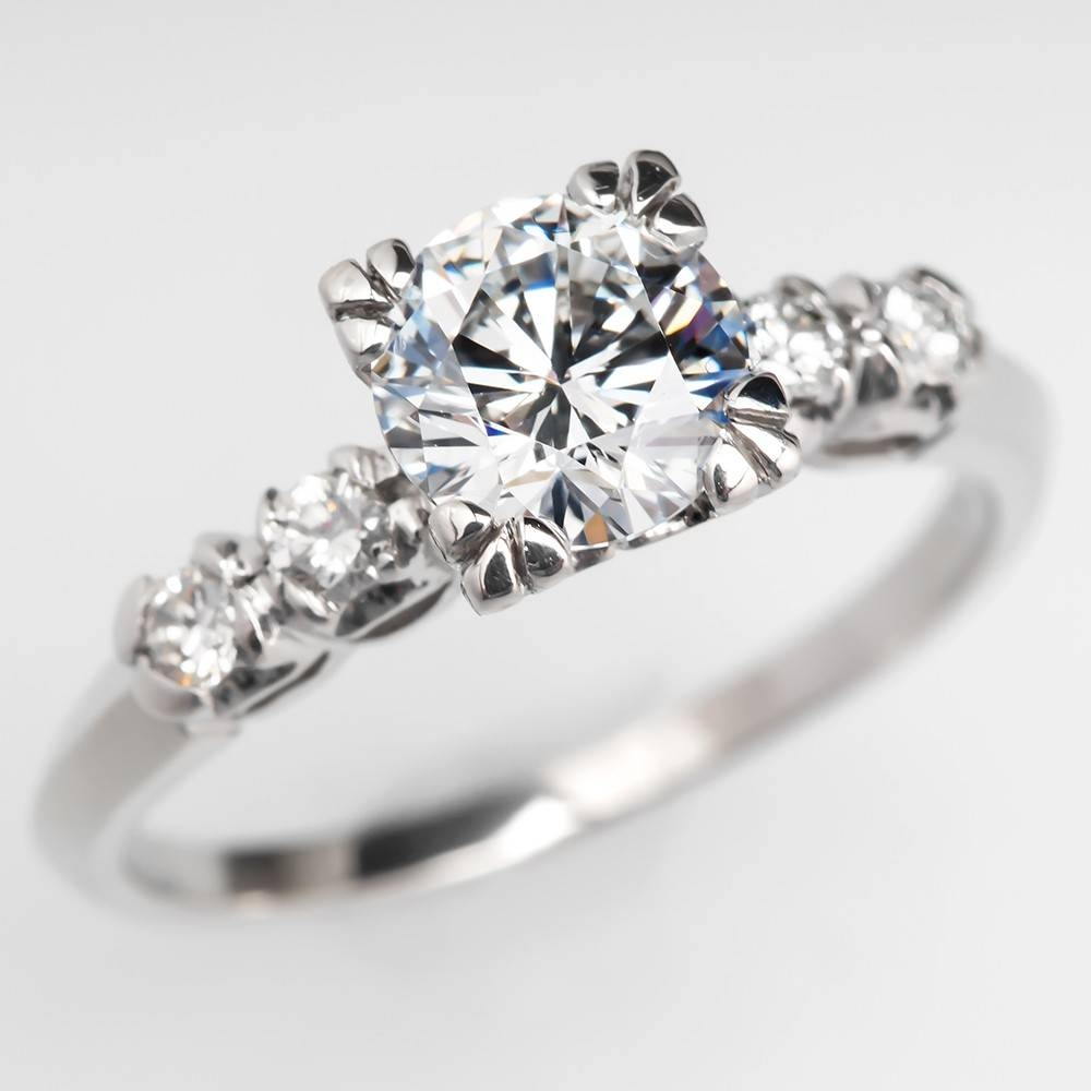 Wedding Rings : Diamond Engagement Rings Past Present Future For Antique Round Diamond Engagement Rings (View 14 of 15)
