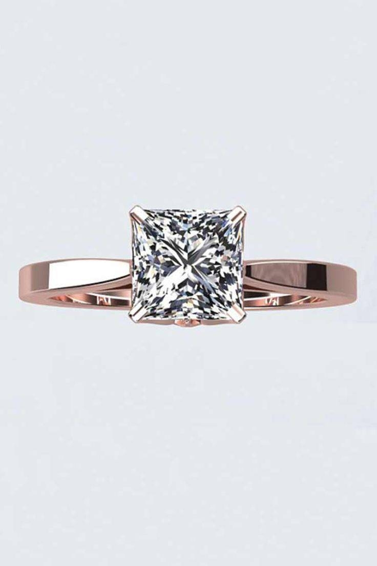 Wedding Rings : Engagement Ring Styles Guide Unique Rose Gold For Wedding Band To Go With Princess Cut Engagement Ring (View 14 of 15)
