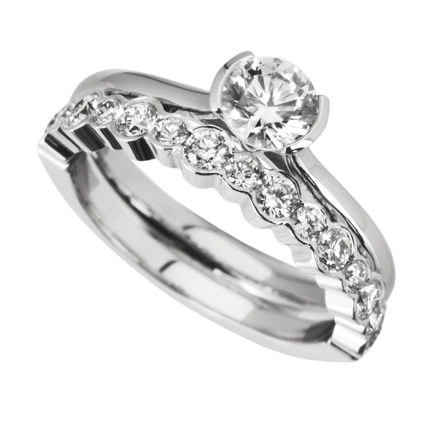 Wedding Rings : Engagement Ring Wedding Set His And Hers Wedding Within Most Current Interlocking Engagement Ring Wedding Bands (View 13 of 15)
