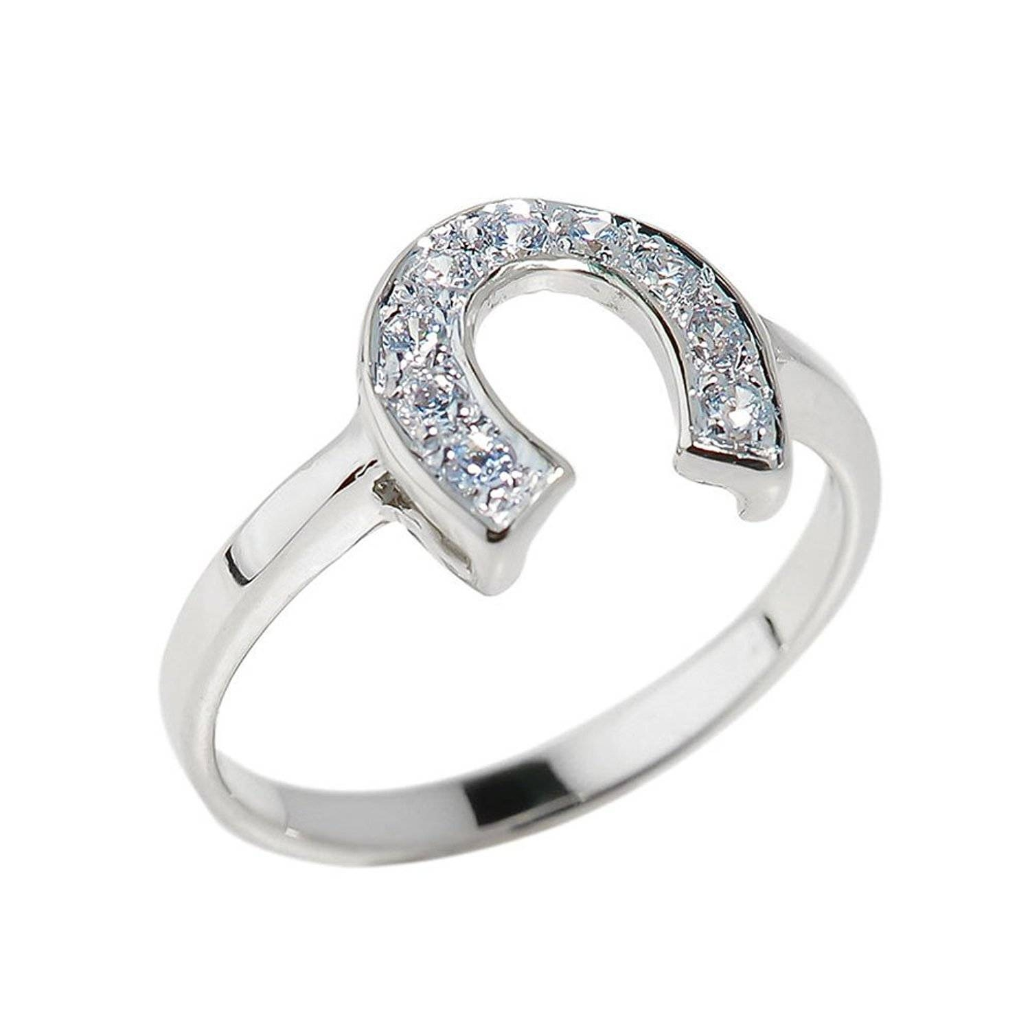 Wedding Rings : Engagement Rings For Horse Lovers Septum Horseshoe Throughout Horseshoe Diamond Engagement Rings (View 7 of 15)