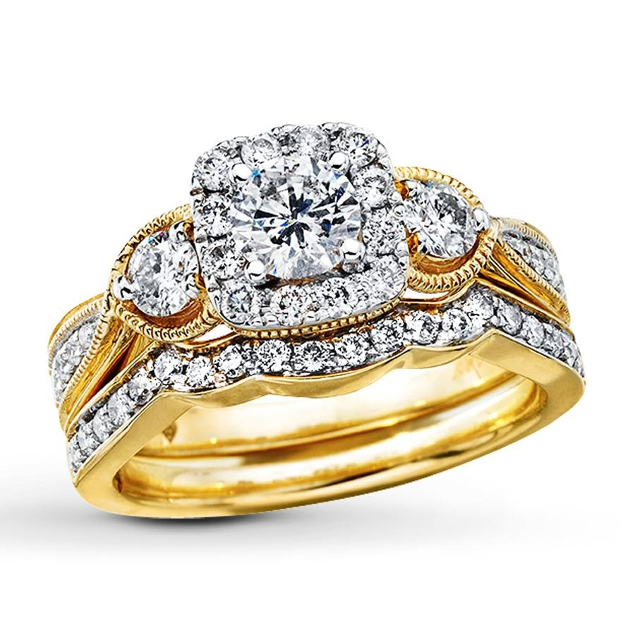 diamond wedding ring set 15 collection of yellow gold wedding band sets 3519