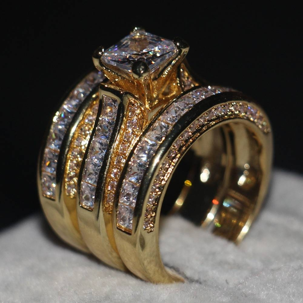 Wedding Rings : Gold Diamond Wedding Rings For Men Mens Gold Band Regarding Mens Gold Diamond Wedding Bands (View 14 of 15)