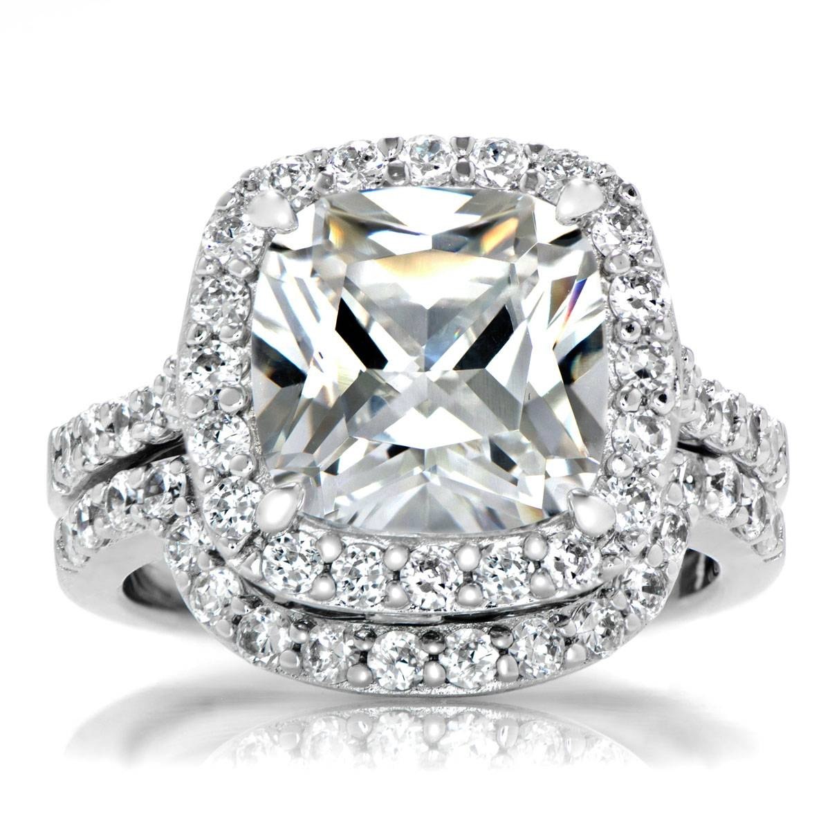 Square Halo Engagement Ring Settings