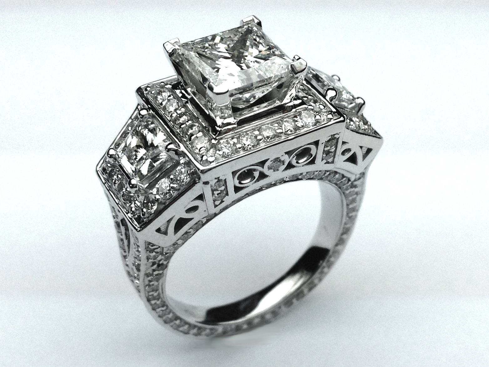 Wedding Rings : Kay Jewelers Zales Triangle Engagement Ring For Triangle Cut Diamond Engagement Rings (View 15 of 15)