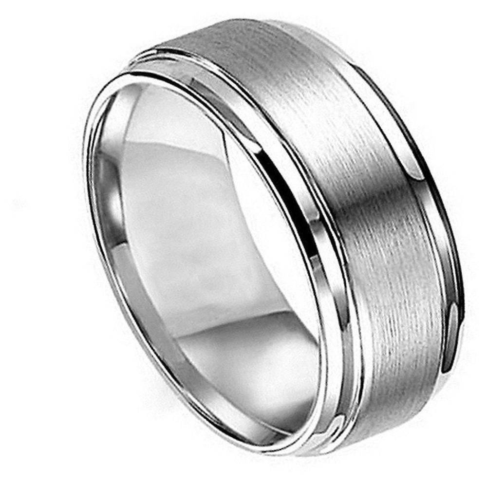 Wedding Rings : Mens Comfort Band Wedding Rings Black And Silver In Male Silver Wedding Bands (View 15 of 15)