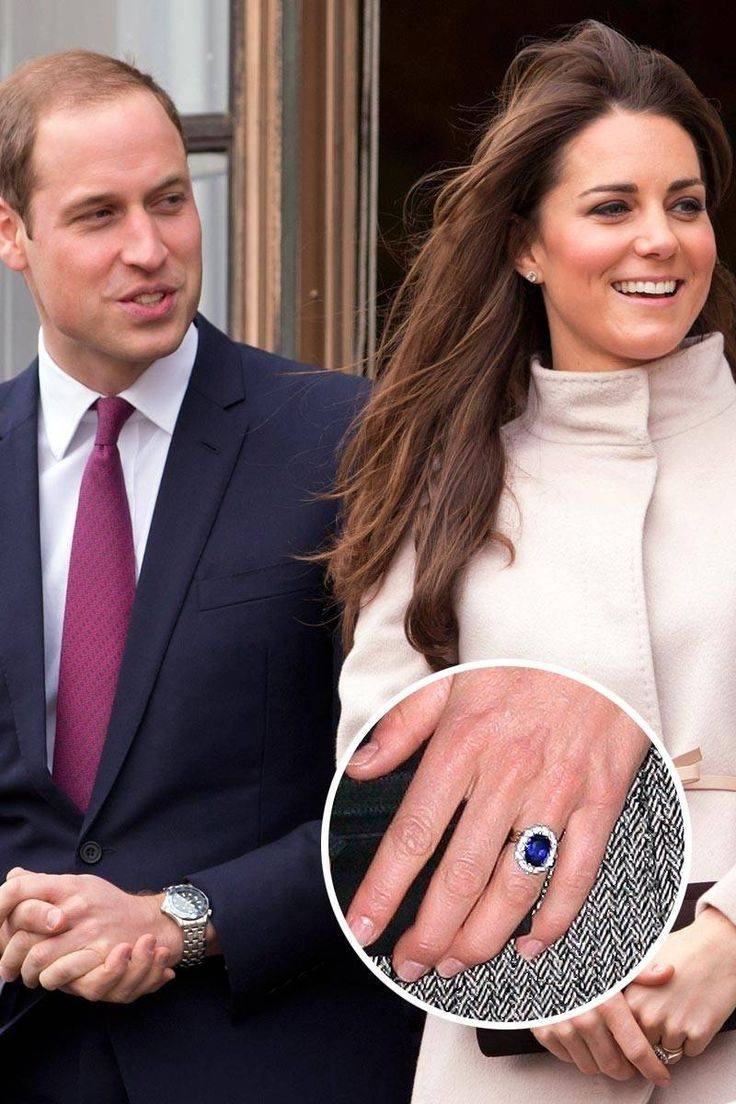 Wedding Rings : Michelle Obama Engagement Ring Carat Hillary Intended For Most Recent Kate Middleton Engagement Rings And Wedding Bands (View 14 of 15)