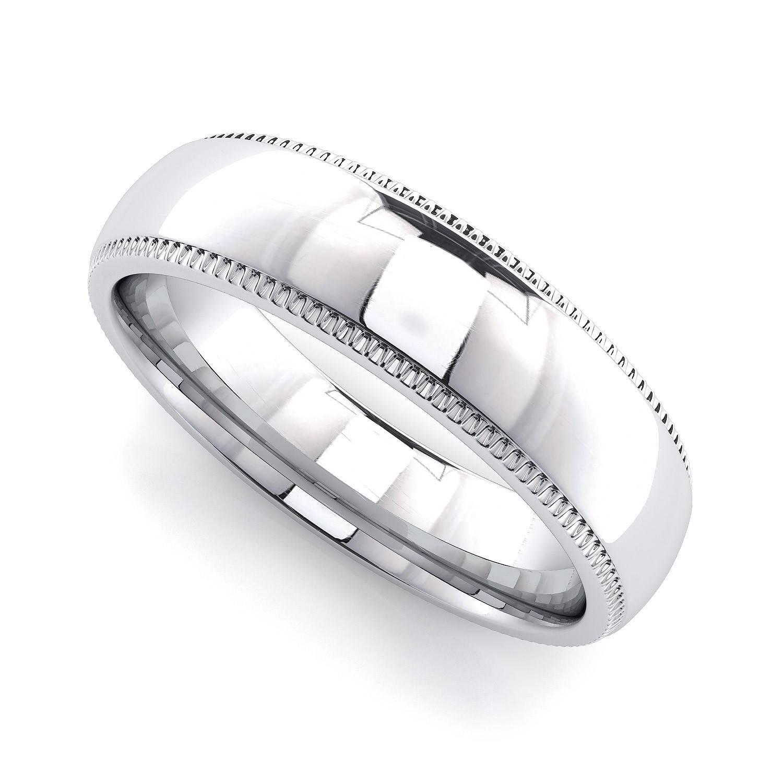 Wedding Rings : Milgrain Wedding Band Ring Rose Gold Milgrain With Regard To 2018 White Gold Milgrain Wedding Bands (View 13 of 15)