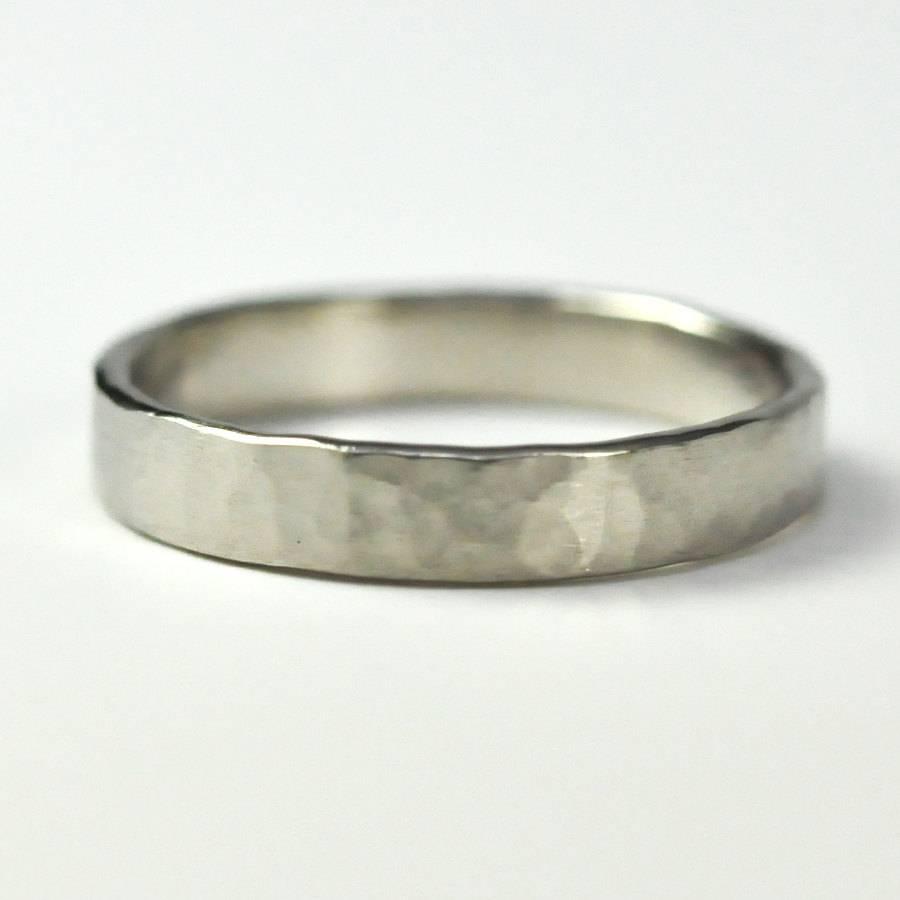 Wedding Rings : Palladium Diamond Wedding Rings Palladium Vs Gold With Most Popular Platinum Hammered Wedding Bands (View 15 of 15)