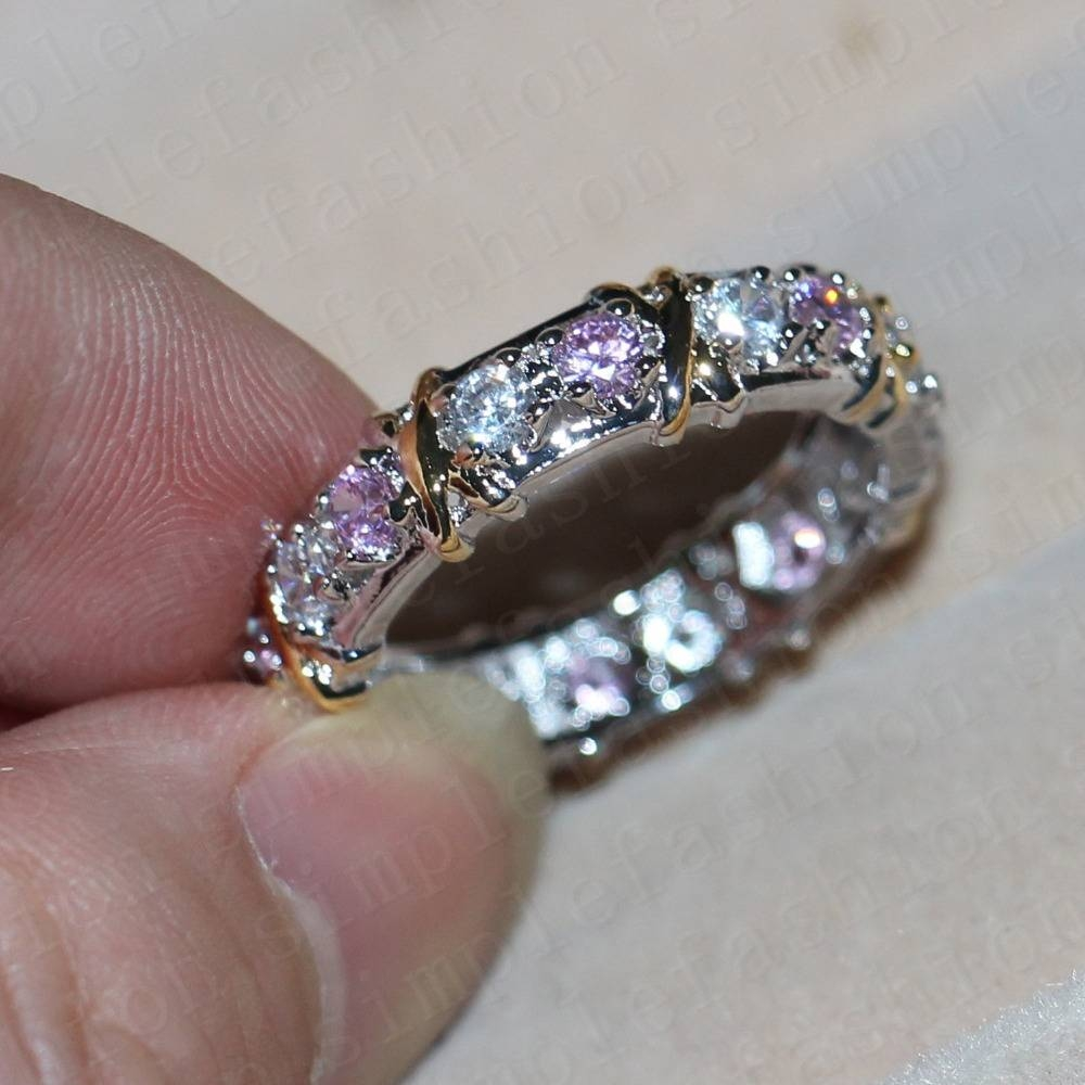 Wedding Rings : Pink Sapphire Engagement Rings Sapphire Rings In Most Current Pink And Diamond Wedding Bands (View 14 of 15)