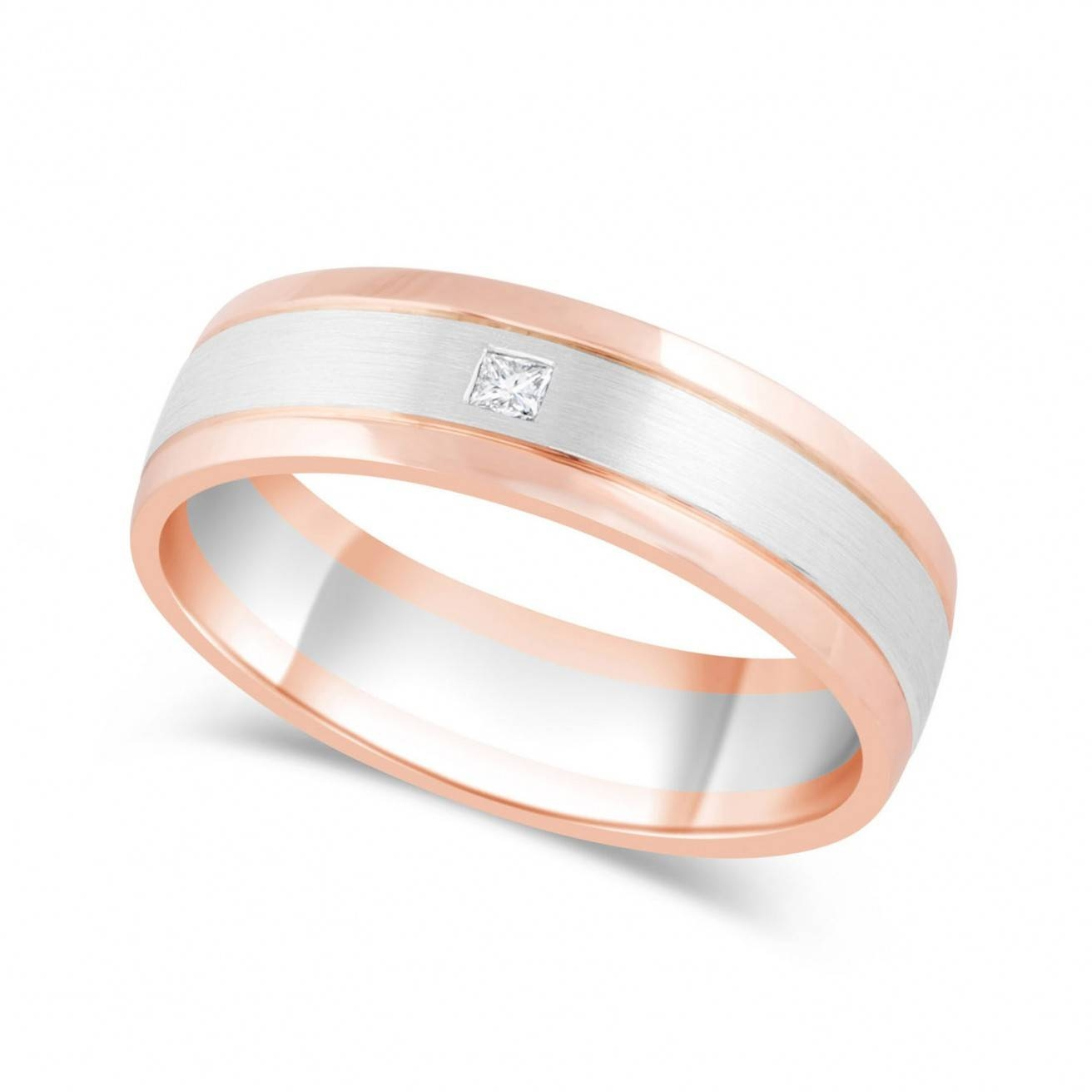 Wedding Rings : Platinum Wedding Sets For Her Mens Wedding Bands With Regard To Recent Rose Gold Platinum Wedding Bands (View 13 of 15)