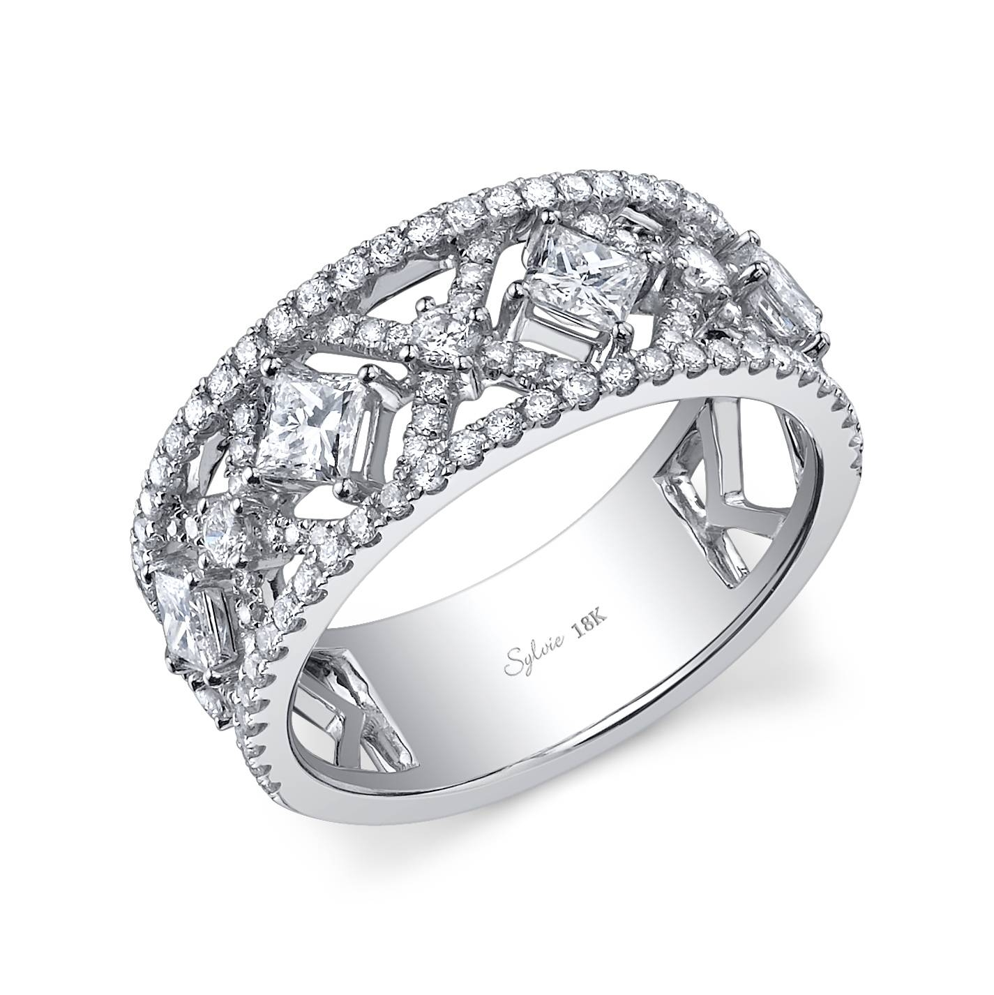 Wedding Rings : Princess Cut Bridal Sets What Is The Difference With Regard To Most Recently Released Thick White Gold Wedding Bands (View 7 of 15)