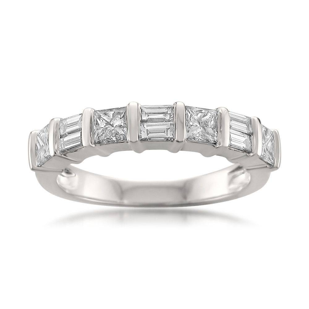 Wedding Rings : Round And Baguette Diamond Wedding Band Channel Intended For Baguette Cut Diamond Wedding Bands (View 14 of 15)