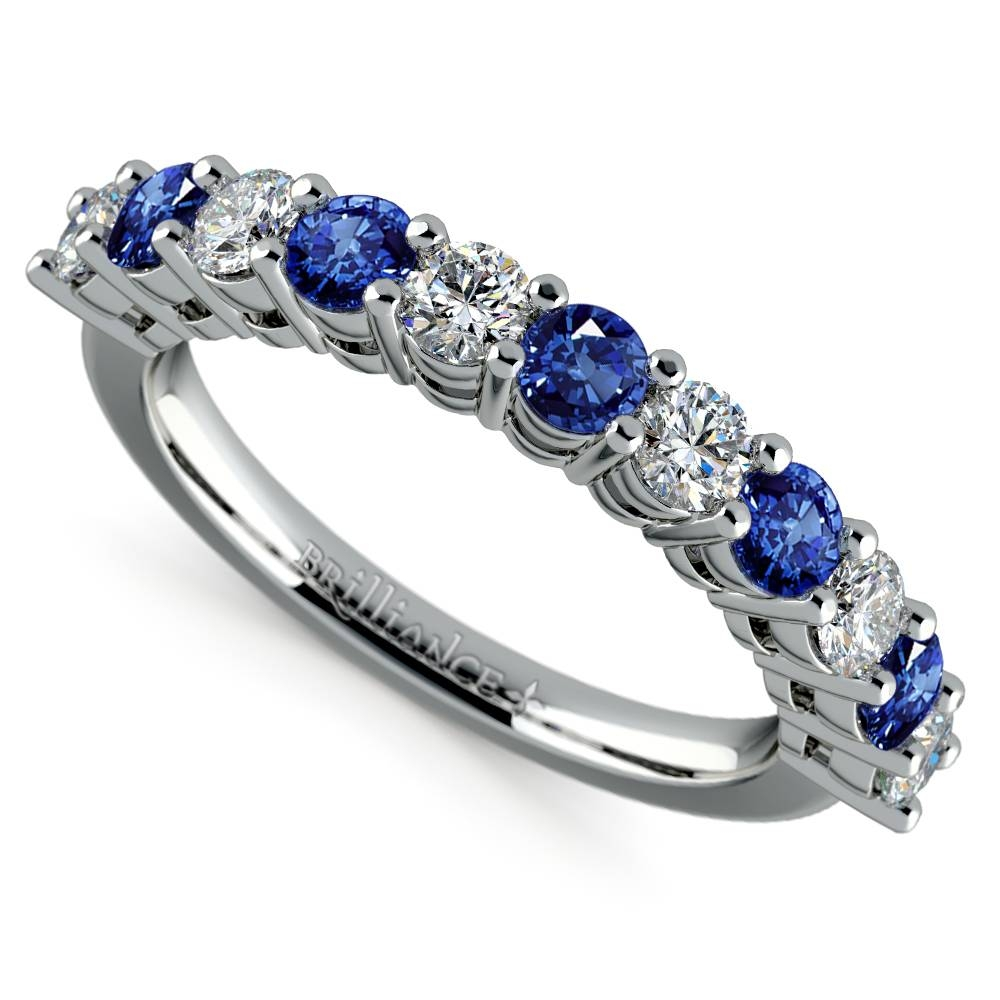 Wedding Rings : Sapphire Engagement Rings Meaning Sapphire Regarding Platinum Diamond And Sapphire Engagement Rings (Gallery 12 of 15)