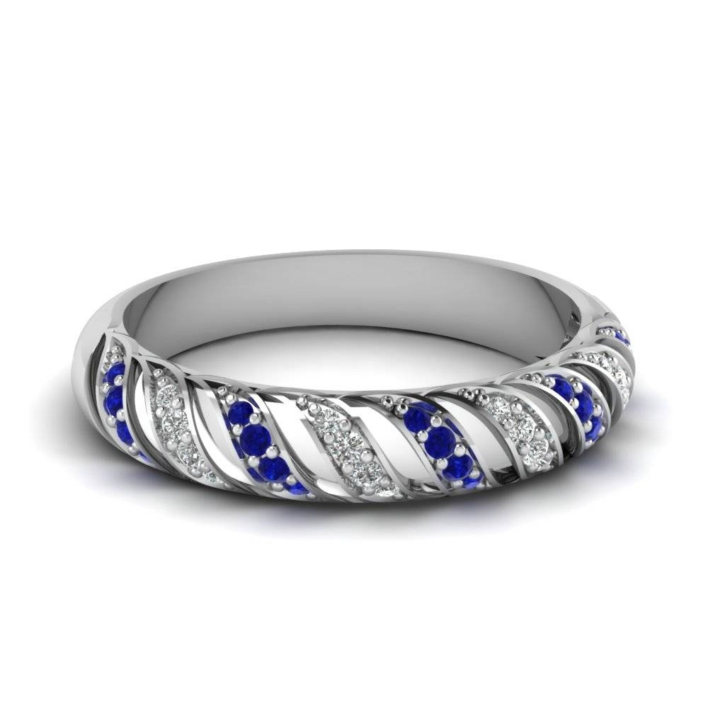 Wedding Rings : Sapphire Wedding Rings For Women Blue Sapphire Set Regarding Wedding Bands With Gemstones (View 15 of 15)