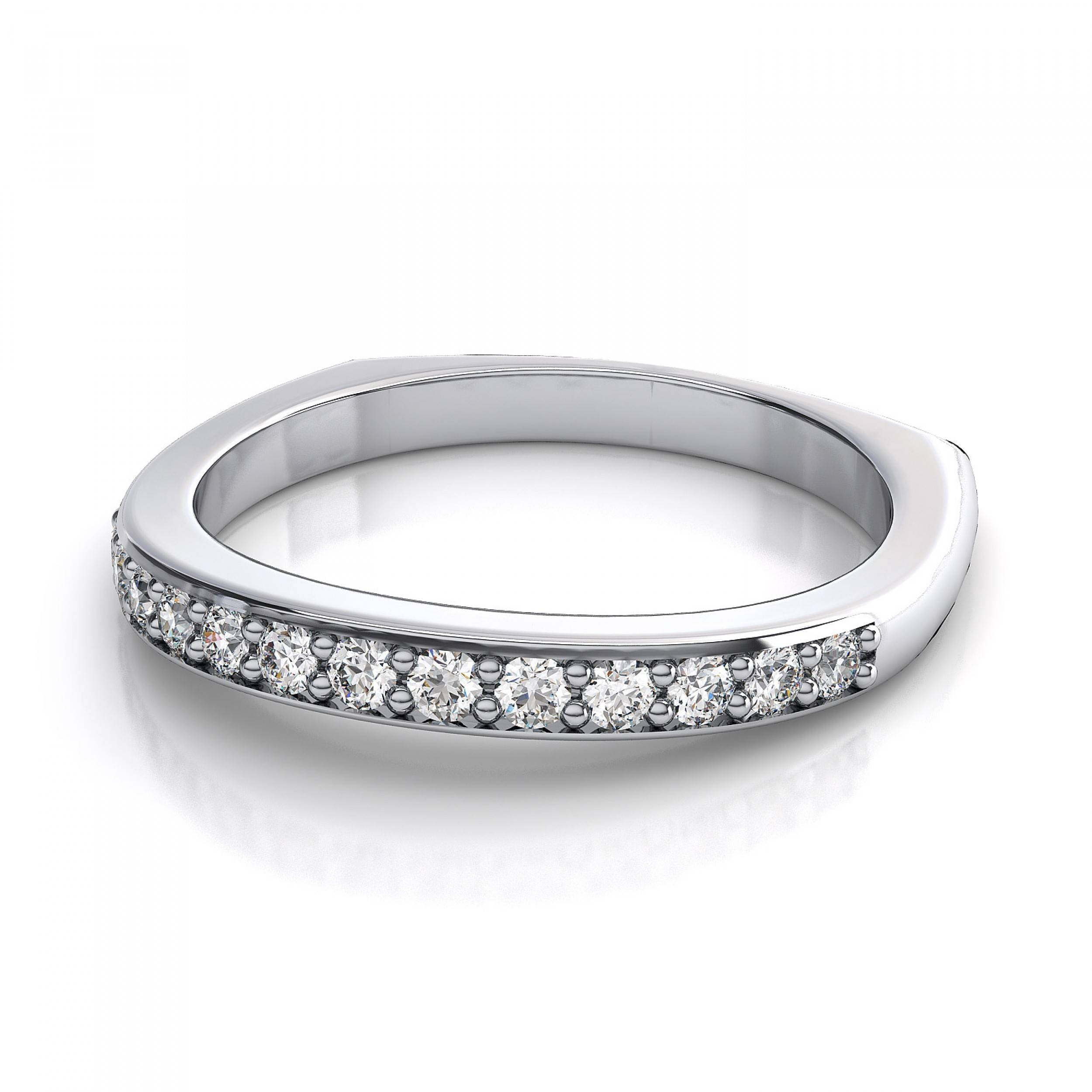 2018 Latest Thick White Gold Wedding Bands
