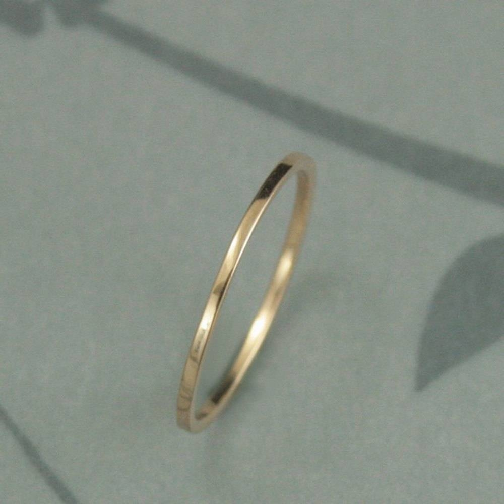 Wedding Rings : Thin Wedding Bands White Gold Thin Platinum For Current 1 Mm Platinum Wedding Bands (View 13 of 15)