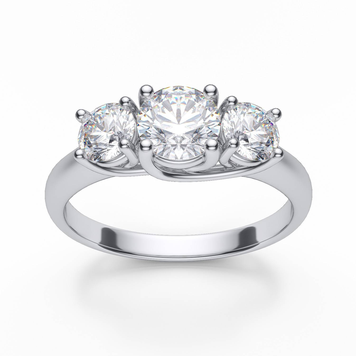 Featured Photo of 3 Stone Platinum Engagement Rings