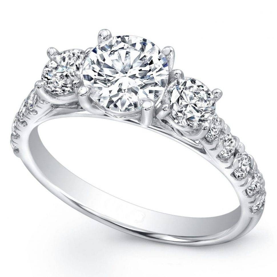 Wedding Rings : Three Stone Wedding Ring 3 Stone Ring Settings With 3 Stone Halo Engagement Ring Settings (View 15 of 15)