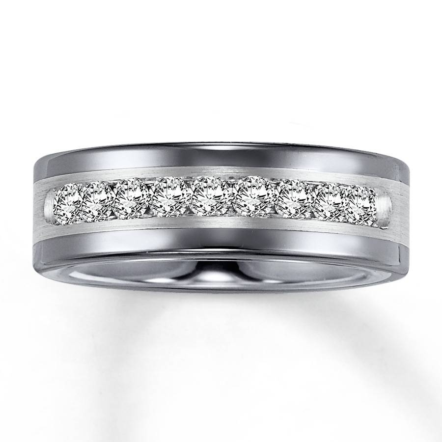 Wedding Rings : Tungsten Wedding Rings With Diamonds Tungsten With Regard To Tungsten Diamonds Wedding Bands (View 1 of 15)