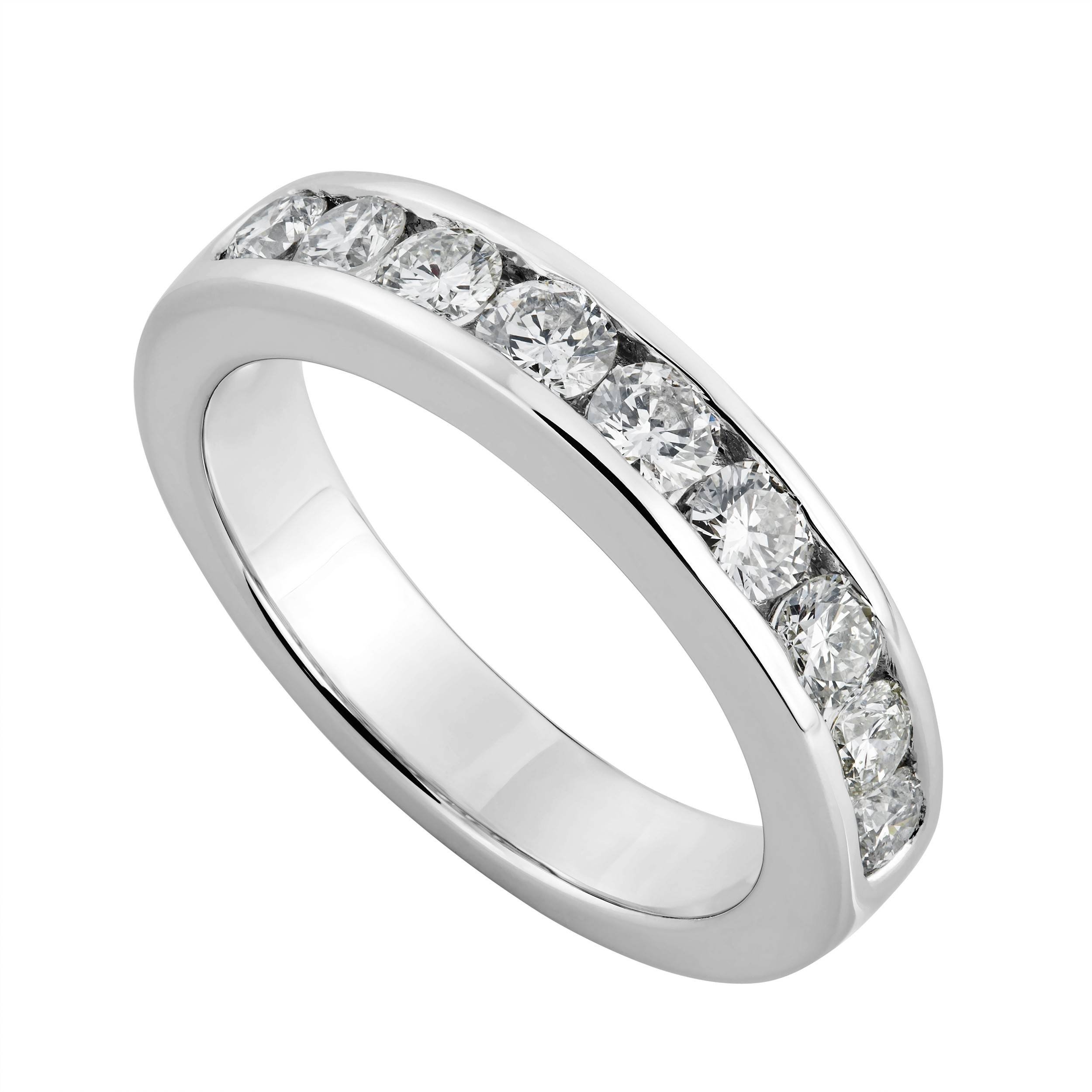 Wedding Rings : Unique Matching Wedding Bands Eternity Band For Most Recent Platinum Eternity Wedding Bands (View 2 of 15)