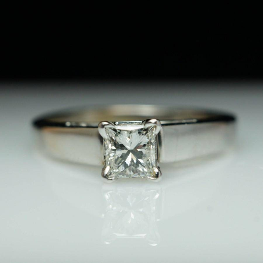 2018 popular wedding bands to go with princess cut for Wedding band to go with halo ring
