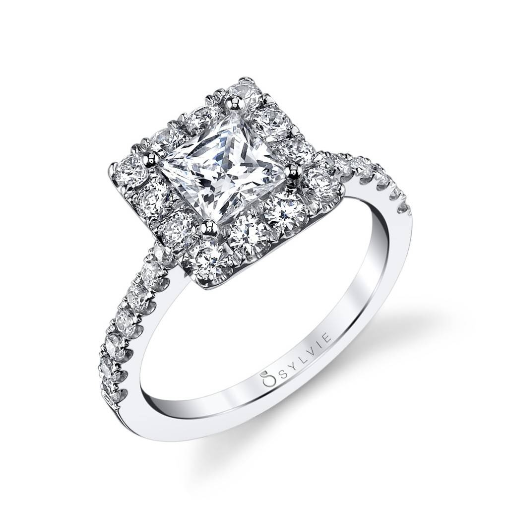 Wedding Rings : White Gold Wedding Ring Sets Princess Cut With Regard To Princess Shaped Engagement Rings (View 15 of 15)