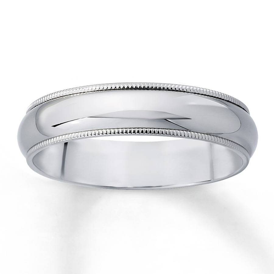 15 Best Collection Of White Gold Milgrain Wedding Bands