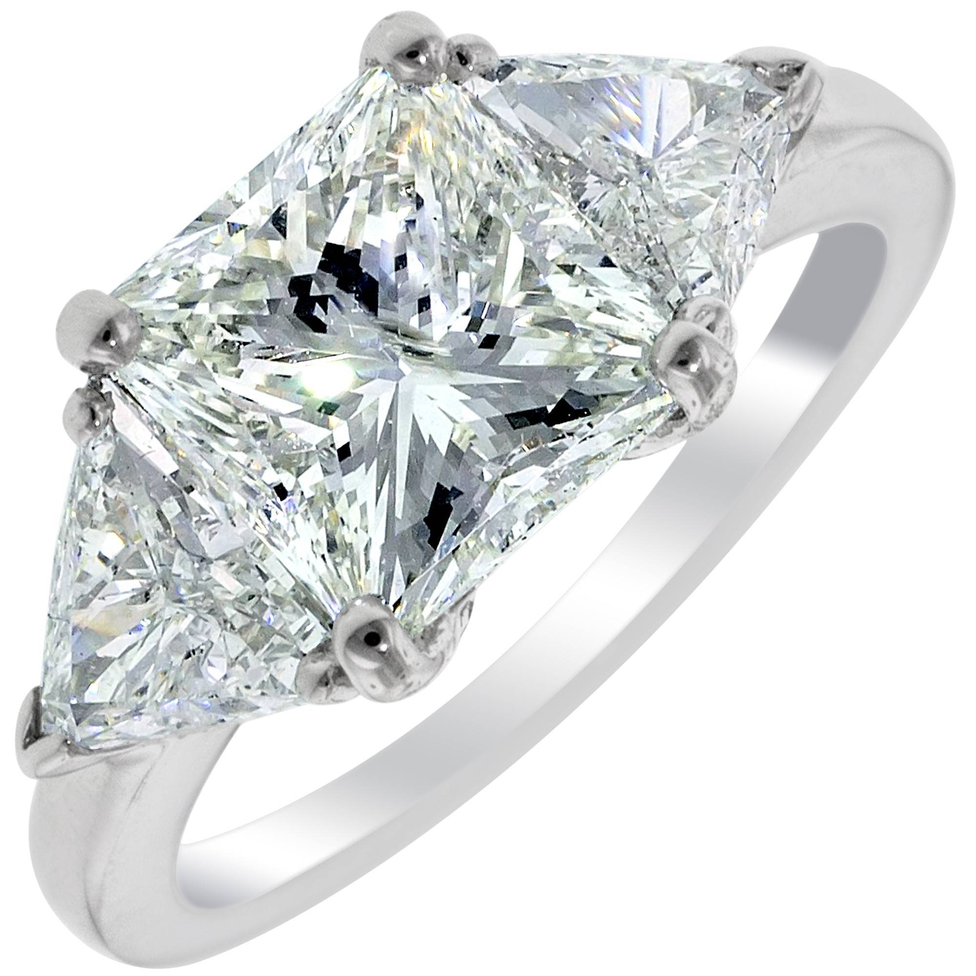 Wedding Rings : Zales Trillion Cut Diamond Meaning Trillion Cut In Triangle Cut Diamond Engagement Rings (View 10 of 15)