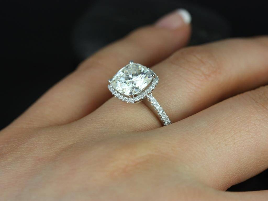 What Is A Cushion Cut Diamond Tags : Cushion Wedding Rings Wedding With Regard To Round Cushion Cut Diamond Engagement Rings (View 2 of 15)