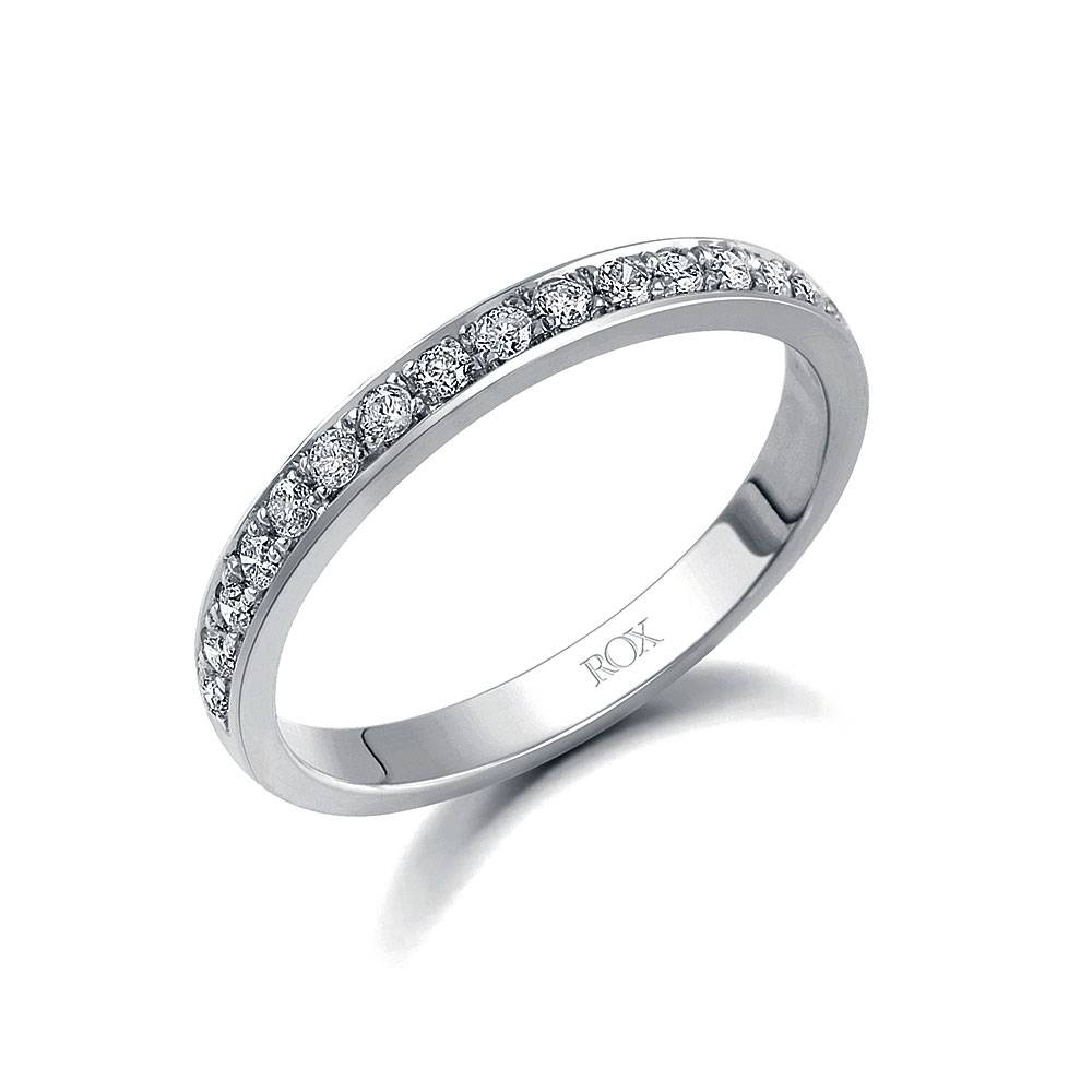 White Gold Brilliant Pave Set Eternity Ring  (View 14 of 15)