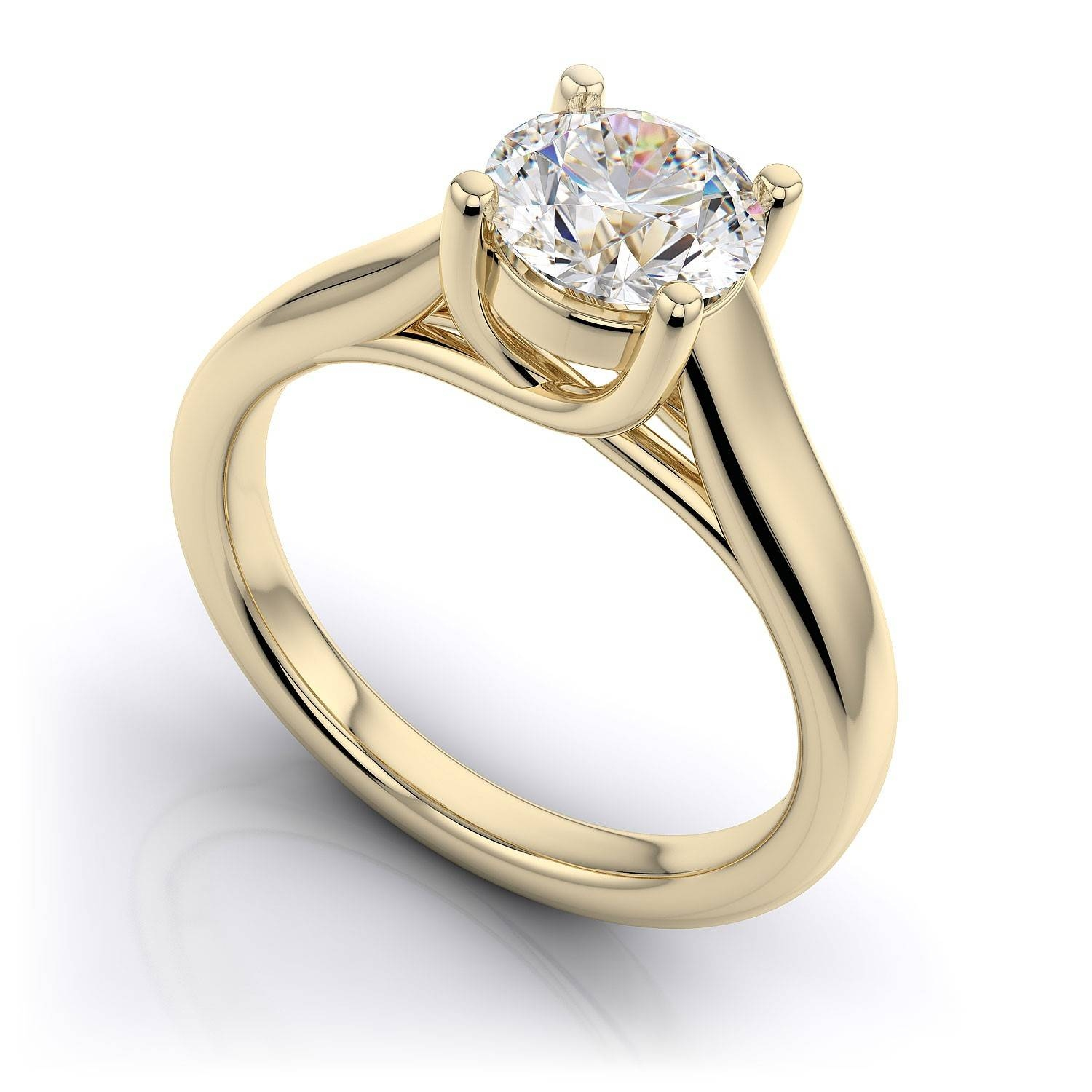 White Gold Diamond Engagement Rings – Show Feelings With Regard To 14K Gold Diamond Engagement Rings (View 14 of 15)