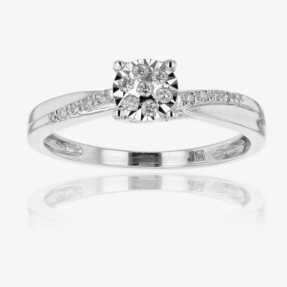 White Gold Diamond Ring Inside White Gold And Diamond Engagement Rings (View 15 of 15)