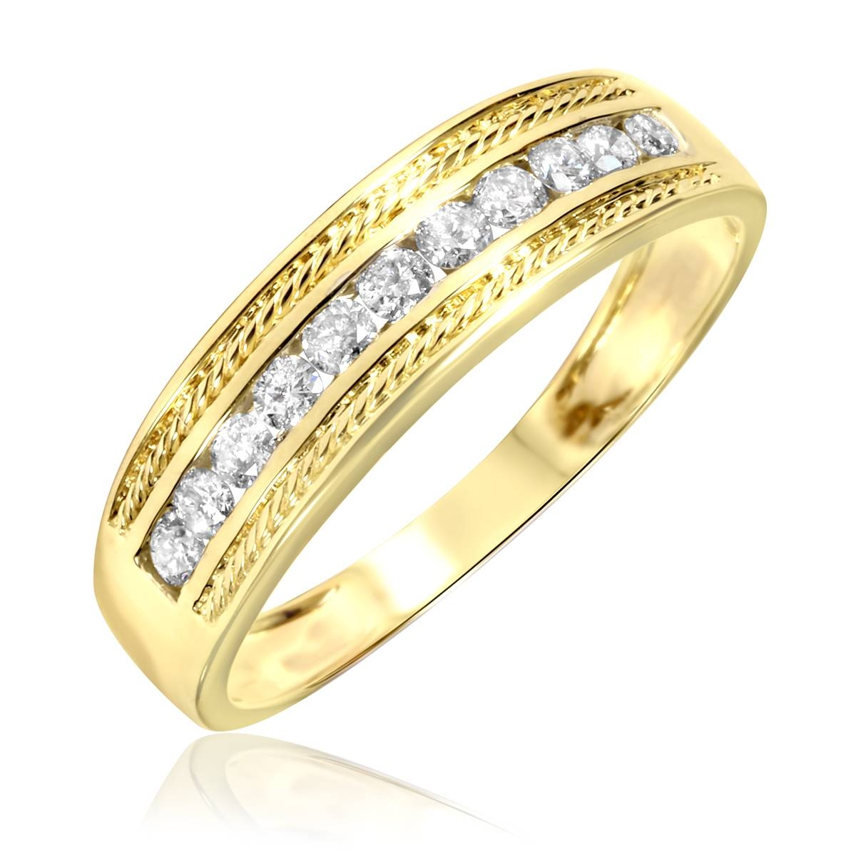 White Gold Wedding Bands For Men : The Astonishing Mens Gold Inside Gold Wedding Bands For Men (View 15 of 15)