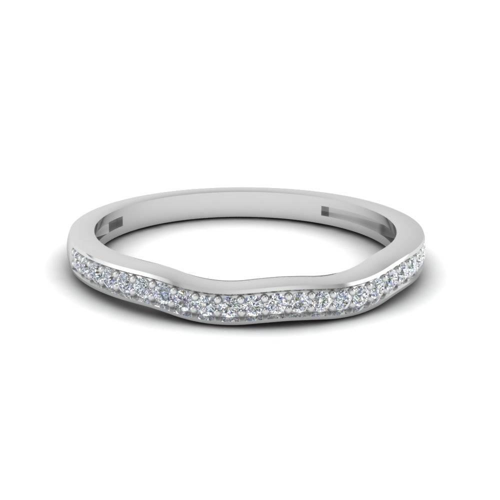 White Gold Wedding Bands For Mens & Women | Fascinating Diamonds Throughout Delicate Diamond Wedding Bands (View 12 of 15)