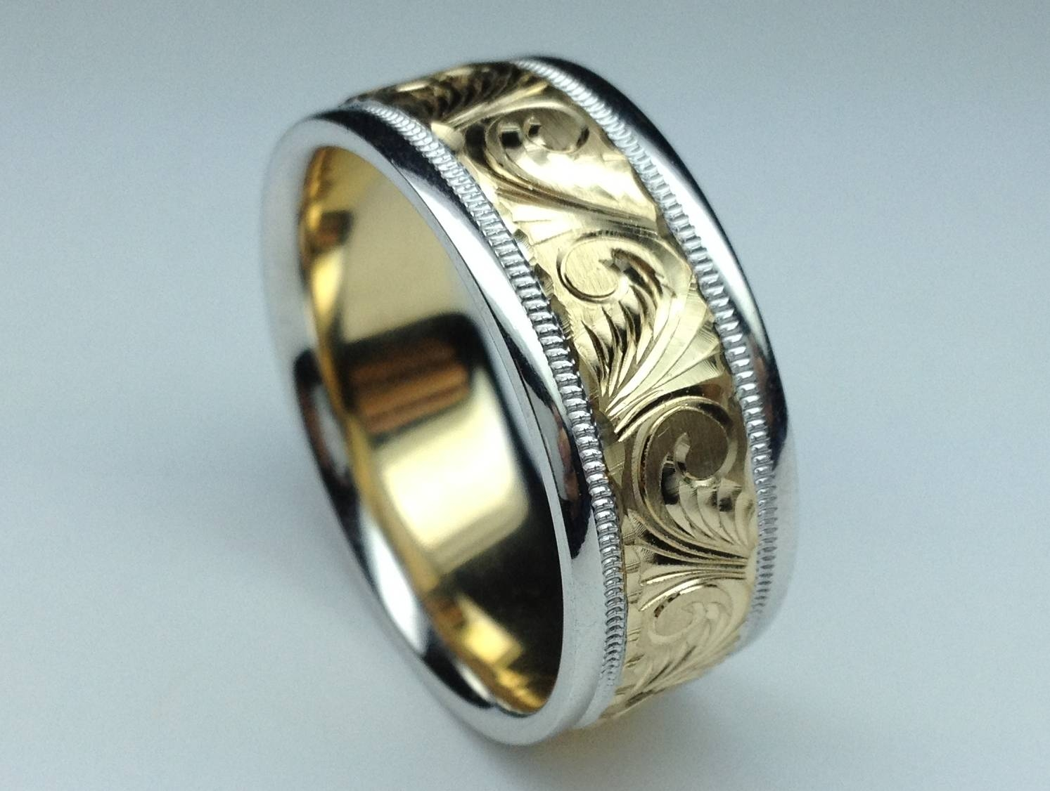 White Gold – Wedding Bands From Mdc Diamonds Pertaining To White And Yellow Gold Wedding Bands (Gallery 15 of 15)