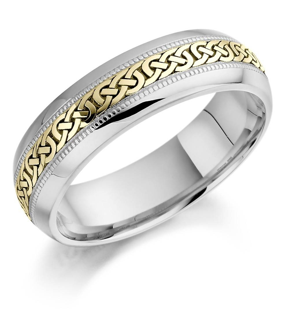 White Gold Wedding Bands Mens K White Gold Wedding Bands Mens Throughout White Gold And Gold Wedding Bands (View 14 of 15)