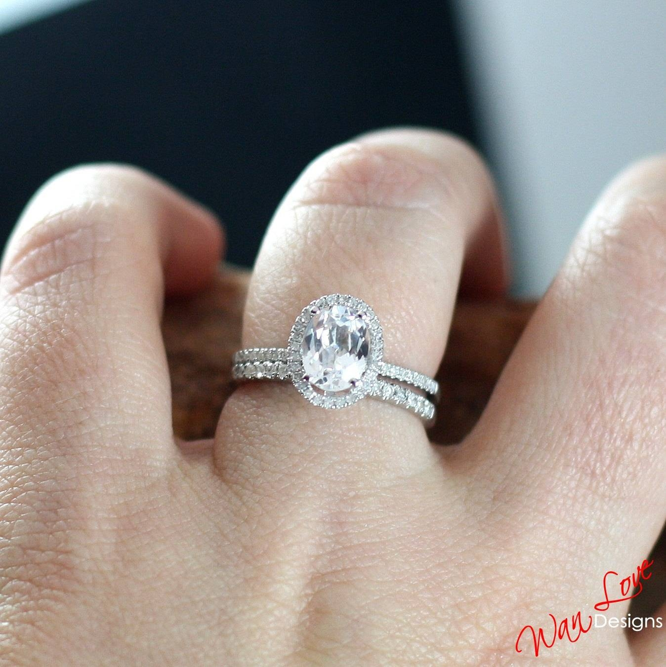 Featured Photo of Oval Halo Wedding Ring Sets