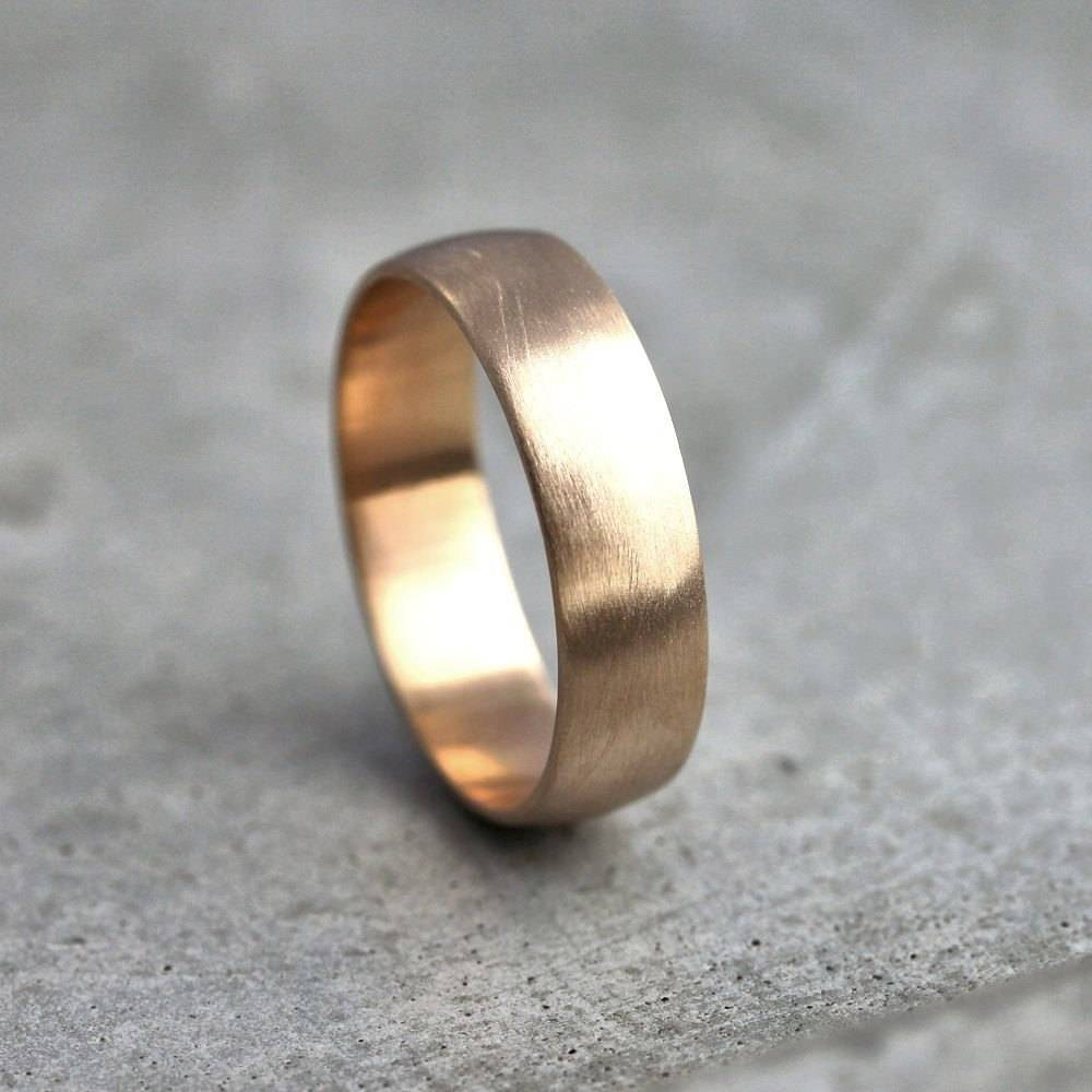 Wide Men's Gold Wedding Band Recycled 14K Yellow Gold 6Mm Within Recent 14K Yellow Gold Mens Wedding Bands (View 14 of 15)